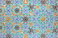 Azulejos瓦片在Mudejar样式背景中 免版税库存图片