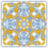 Azulejos葡萄牙人水彩 库存图片