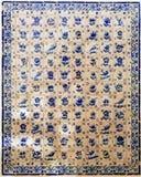 azulejos装饰obidos葡萄牙墙壁 免版税库存图片