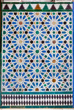 Azulejos铺磁砖了在Mudejar样式的墙壁 库存图片