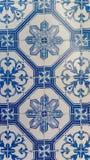 Azulejos铺磁砖蓝色样式 免版税库存图片