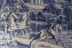 Azulejos στο παλάτι Sintra Στοκ Εικόνες