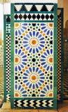 Azulejos, Alcazar Royal palace in Sevilla, Spain. Moorish Art, glazed tile skirting board, palace royal Alcazar in Seville, Andalusia, Spain Stock Image