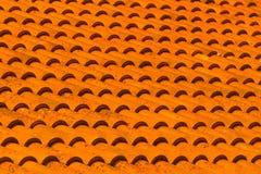 Azulejos anaranjados Fotografía de archivo libre de regalías