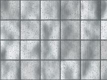 Azulejos aplicados con brocha del cuadrado del metal Foto de archivo