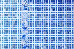 Azulejos azules Imágenes de archivo libres de regalías