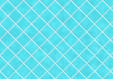 Azulejos azules del cuarto de baño Fotografía de archivo