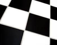 Azulejos blancos y negros Foto de archivo