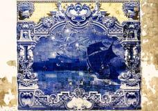 Azulejos blu Fotografia Stock