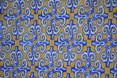 Azulejos on the buildings in Valencia Royalty Free Stock Images
