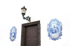 azulejos canico给madeir葡萄牙瓦片上釉 库存照片