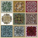 Azulejos ceramic tiles set. royalty free illustration