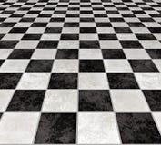 Azulejos checkered de mármol   ilustración del vector