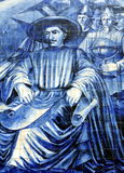 Azulejos on a church wall in Porto. Azulejos (wall tiles) on the walls of Igreja da Confraria das Almas do Corpo Santo de Massarelos in the city of Porto Stock Images