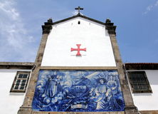Azulejos on a church wall in Porto Royalty Free Stock Images