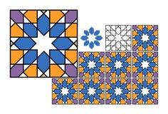 Azulejos coloreados - vector imagenes de archivo