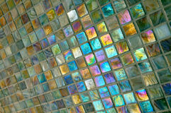 Azulejos coloridos del cuarto de baño Imagen de archivo libre de regalías