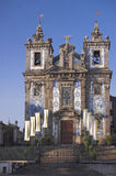Azulejos covered church Stock Images