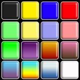 Azulejos cuadrados brillantes Fotos de archivo libres de regalías