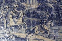 Azulejos dans le palais de Sintra Images stock