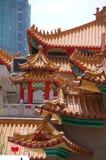 Azulejos de azotea chinos Fotografía de archivo