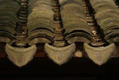 Azulejos de azotea de la obra clásica china Foto de archivo