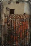 Azulejos de azotea viejos Foto de archivo libre de regalías