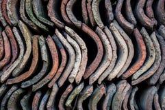 Azulejos de azotea viejos Foto de archivo