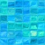 Azulejos de cristal azules Fotos de archivo libres de regalías
