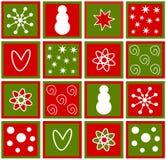 Azulejos de la Navidad ilustración del vector