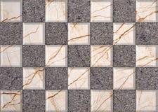 Azulejos de mármol de la decoración Imagen de archivo libre de regalías
