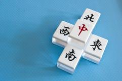 Azulejos de Mahjong Imagenes de archivo