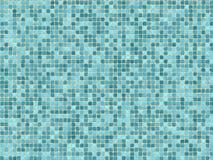 Azulejos de mosaico azules Fotografía de archivo libre de regalías