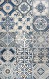 Azulejos de mosaico azules Imágenes de archivo libres de regalías
