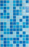 Azulejos de mosaico azules Foto de archivo libre de regalías