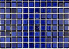 Azulejos de mosaico azules de cerámica Imágenes de archivo libres de regalías