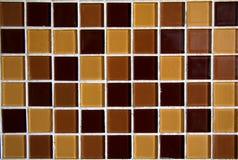 Azulejos de mosaico de Brown Fotografía de archivo libre de regalías
