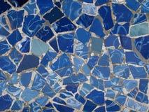 Azulejos de mosaico de Gaudi - Barcelona, España Fotos de archivo
