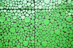 Azulejos de mosaico defferent verdes de la dimensión de una variable Foto de archivo libre de regalías
