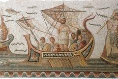 Azulejos de mosaico romanos antiguos Fotos de archivo libres de regalías