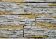azulejos de piedra salvajes Blanco-amarillos Fotos de archivo