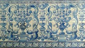 Azulejos de Portugal de la teja de mosaico de Macao Fotografía de archivo