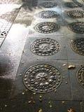 Azulejos de suelo adornados Imagen de archivo