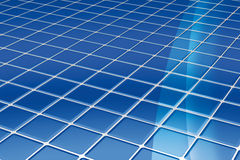 Azulejos de suelo azules Imagenes de archivo