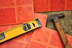 Azulejos de suelo de cerámica Fotos de archivo