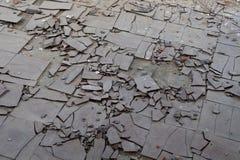 Azulejos de suelo del asbesto fotografía de archivo libre de regalías