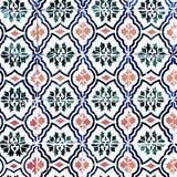 Azulejos decorativos portugueses adornados tradicionales de las tejas del vintage Imágenes de archivo libres de regalías