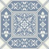 Azulejos decorativos portugueses adornados tradicionales de las tejas Modelo de la vendimia ilustración del vector