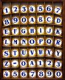 Azulejos del alfabeto fotos de archivo libres de regalías