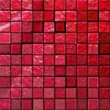 Azulejos del cuarto de baño abstracto rojos Fotos de archivo
